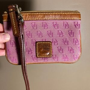 Dooney and Bourke monogrammed wristlet